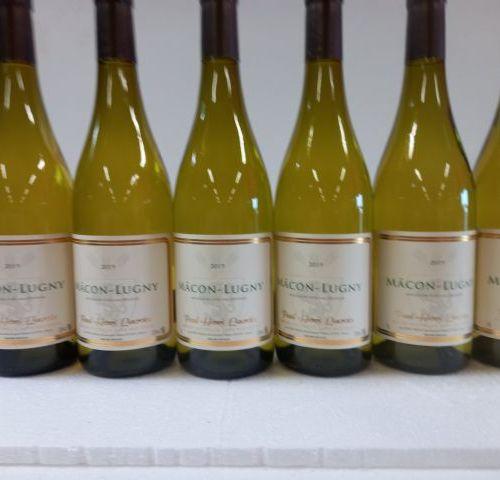 8 bouteilles de Bourgogne. Macon Lugny. 2019. Paul Henri Lacroix