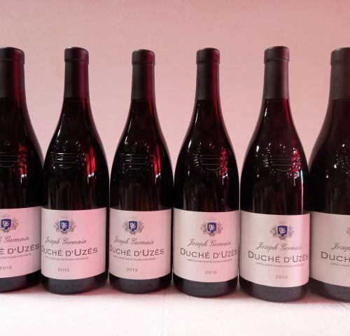 6 bouteilles de Cru de la Vallée du Rhône. 2015. Grand millésime. Duché d'Uzes. …