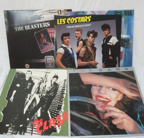 Lot de 5 vinyles 33 tours : The Blasters, Cheap Trick, Les Costars, The Clash, T…