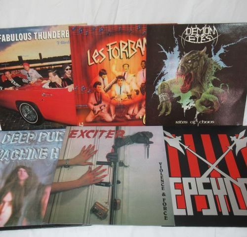 Lot de 6 vinyles 33 tours : Demon Eyes, les Forbans, The Fabulous Thunderbirds, …