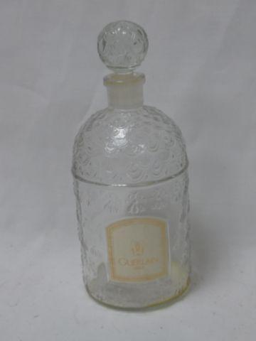 GUERLAIN Flacon en verre moulé, décor aux abeilles. Pour Shalimar. Contenance 50…