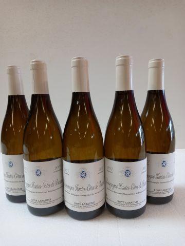 5 bouteilles de Hautes Côtes de Beaune. Blanc. 2017. Bourgogne. Royé Labaume