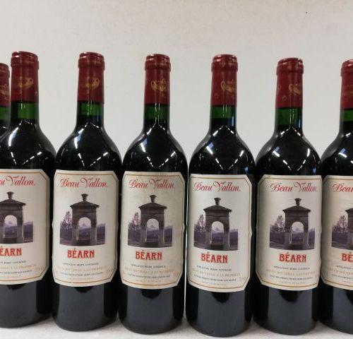 8 bouteilles de Château Beau Vallon. Vin du Béarn. La Cave des producteurs de Bé…