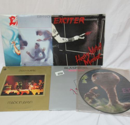 Lot de 6 vinyles 33 tours : Blaspheme, Deep Purple, Exciter, Edith Nylon, Exodus…