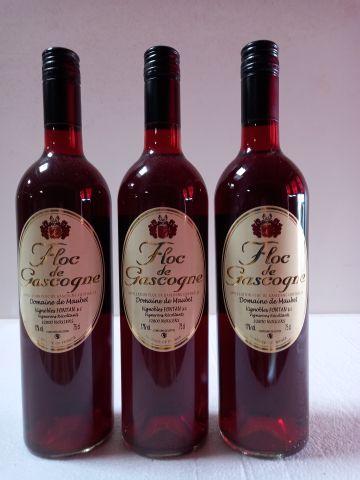 3 bouteilles de floc de Gascogne. Liquoreux. Domaine de Maubert. Vignerons récol…