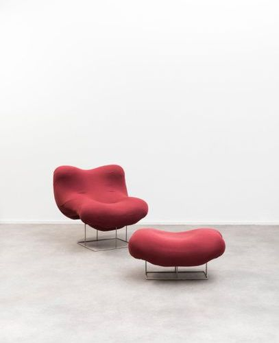 PANAMARENKO (1940 2019) Olilly Armchair and ottoman Polyurethane foam, stretch f…