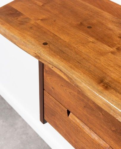 George Nakashima (1905 1990) Console hanging desk with two drawers and free form…