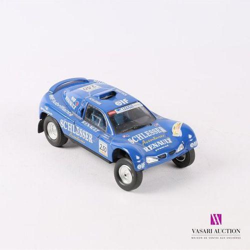 BURAGO Renault Megane ou Buggy Schlesser en métal Paris Dakar 2000 échelle 1/24 …