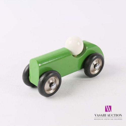 VILAC Monoplace avec chauffeur en bois peint vert et blanc Sans étiquette (infim…