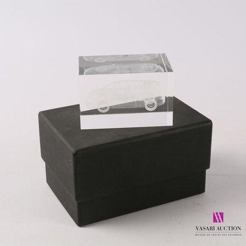 Renault Avantime en 3D en verre et mousse de verre Dans sa boite d'origine Haut.…