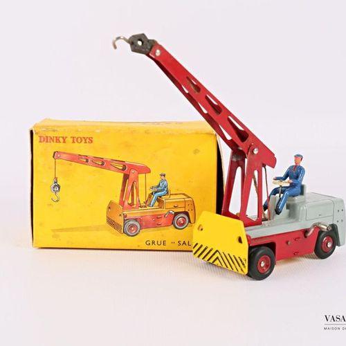 """DINKY TOYS Grue """"SALEV"""" Réf 50 (boîte d'origine, usures et petits accidents à la…"""