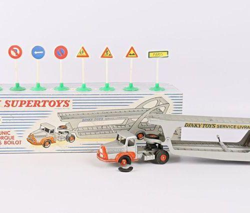 DINKY SUPERTOYS Tracteur Unic et semi remorque porte voitures Boilot Réf : 39A O…