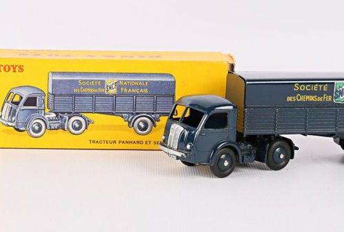 DINKY TOYS Panhard tractor and SNCF semi trailer Ref 32 AB (original box, slight…