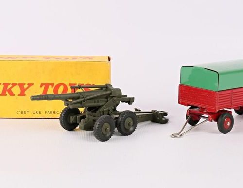DINKY TOYS Howitzer of 155 ABS Ref 80E (slight wear and tear, small stains on th…
