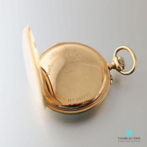 Vacheron Constantin, montre de poche à sonnerie en or jaune 750 millièmes, cdran…