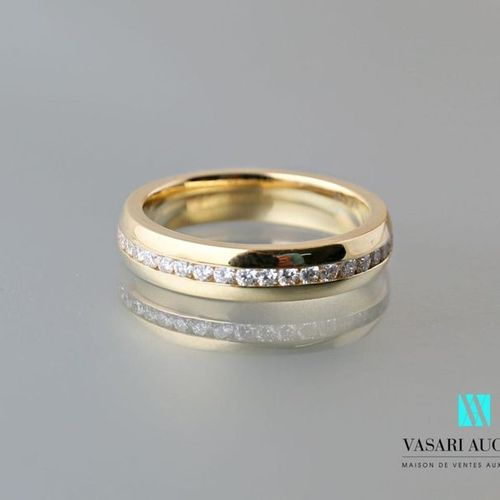 """Jeweler's Bachet, wedding ring """"A way to love"""" in 750 thousandths yellow gold se…"""