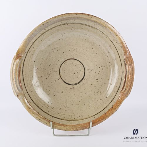 ASTOUL Éric (Born in 1954)  Important round and hollow shaped dish, the basin ha…