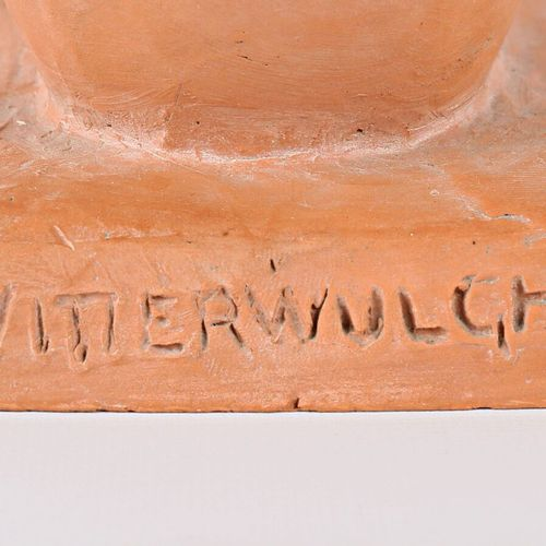 WITTERWULGHE Joseph (1883 1967)  Crouching woman  Fired clay  Signed on the terr…