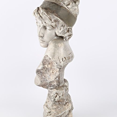 VILLANIS Emmanuel (1858 1914) according to  Sapho  Plaster with silver patina  S…