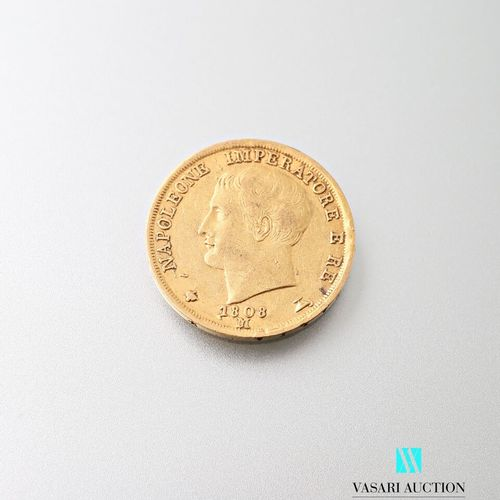 20 L gold coin, Napoleon, 1808  Weight : 6,41 g