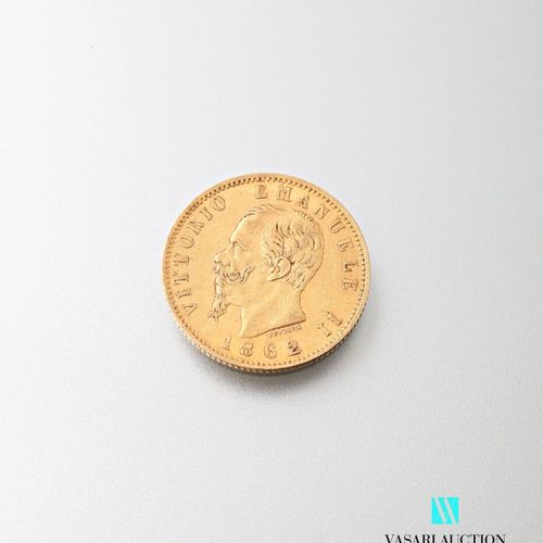 20 lira gold coin, Vittorio Emanuele II, 1862  Weight : 6,42 g