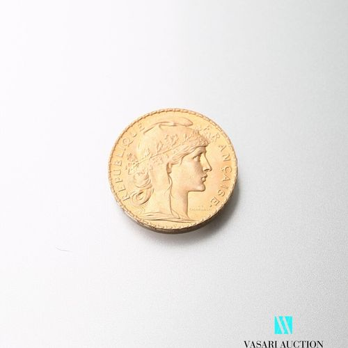 Gold coin, 20 francs, French Republic, Marianne 1914 after Jules Clément Chaplai…