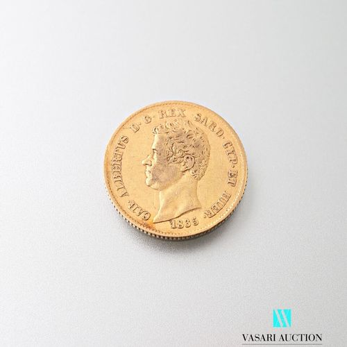 20 L gold coin, Charles Albert, 1835  Weight : 6,42 g