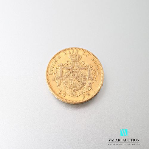 20 franc gold coin Leopold II, 1871  weight : 6,43 g