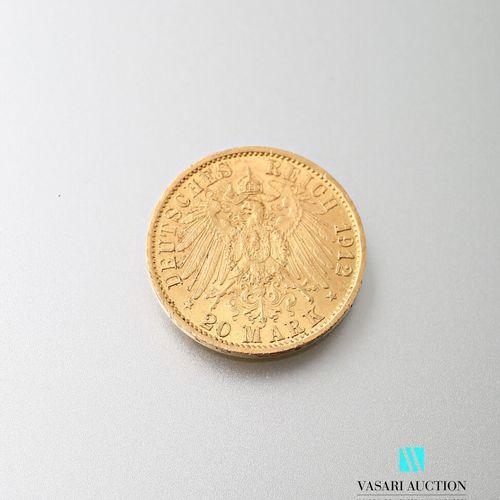 20 mark gold coin, Wilhelm II, 1912  weight: 7,95 g