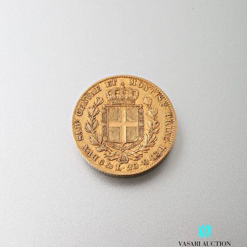 20 L gold coin, Charles Albert, 1849  Weight : 6,43 g