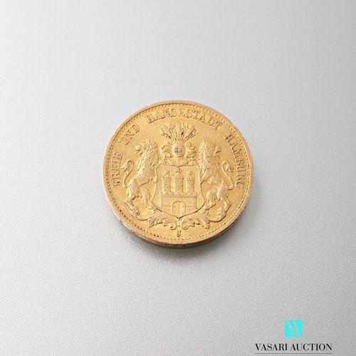 20 mark gold coin, Hamburg, 1897  weight: 7.93 g