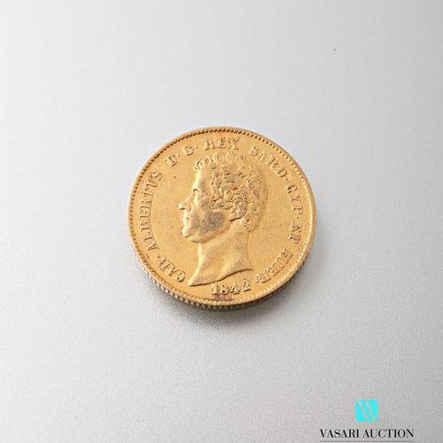 20 L gold coin, Charles Albert, 1842  Weight : 6,41 g