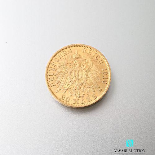 20 mark gold coin, Wilhelm II, 1910  weight : 7,96 g