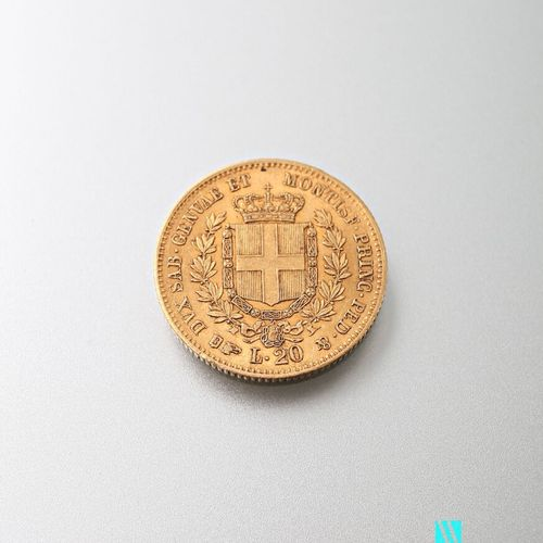 20 L gold coin, Victor Emmanuel II, 1859  Weight: 6.44 g