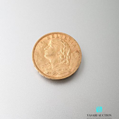 20 Swiss Franc gold coin, Vreneli, 1902  weight : 6,43 g