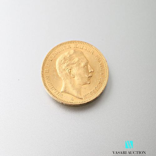 20 mark gold coin, Wilhelm II, 1900  weight: 7,96 g