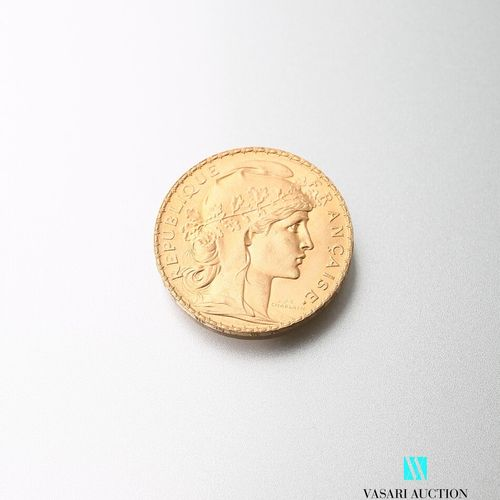 Gold coin, 20 francs, French Republic, Marianne 1911 after Jules Clément Chaplai…