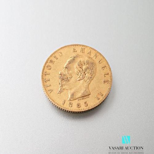 20 lira gold coin, Vittorio Emanuele II, 1865  Weight : 6,43 g