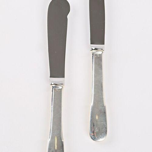 Ensemble comprenant un couteau à beurre et un couteau à fromage, le manche en ar…