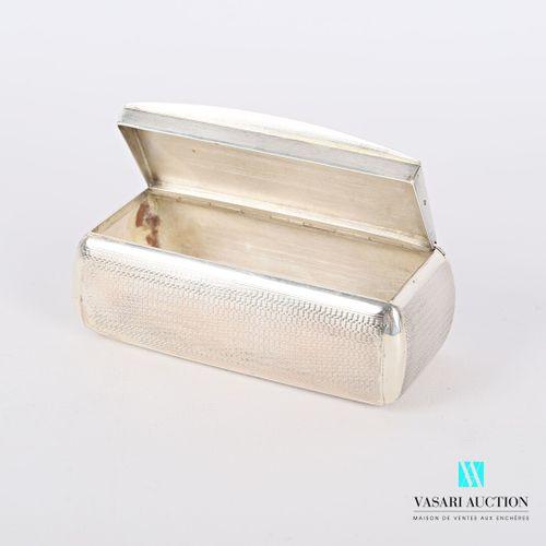 Tabatière en argent de forme rectangulaire en argent à décor de guilloché, le co…