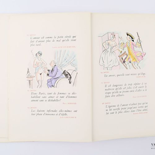 PAVIS Georges Pour et contre l'amour Paris René Kieffer 1947 un volume in 8° bro…