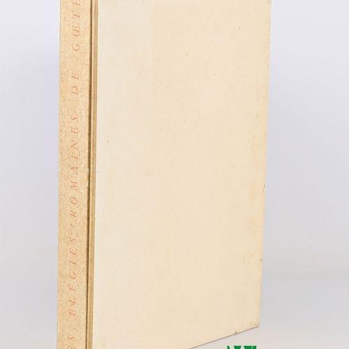 GOETHE Elégies romaines Traduction de Maurice Betz Paris, Emile Paul Frères, 194…