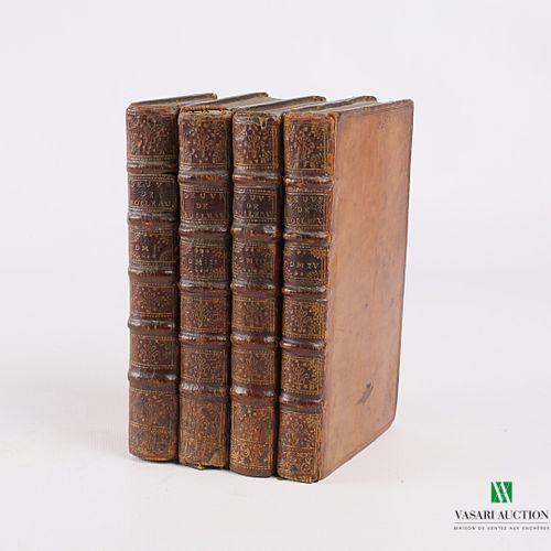 BOILEAU DESPREAUX Oeuvres en vers (deux tomes) et Oeuvres en proses (deux tomes)…