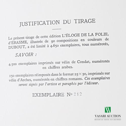 ERASME L'Eloge de la folie Traduit du latin par de Laveaux Paris, Gibert Jeune, …