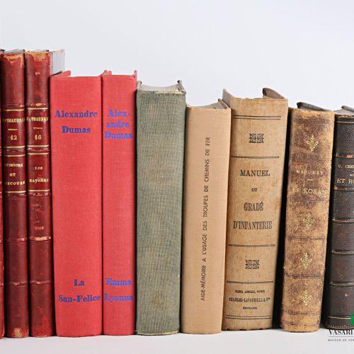 [LITTERATURE & ROMANS]  Lot comprenant dix huit ouvrages :   DUMAS Alexandre Rom…