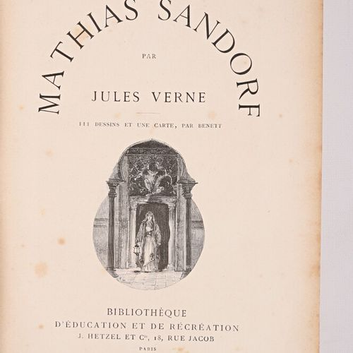 VERNE Jules Mathuias Sandorf Paris Bibliothèque d'éducation et de récréation J. …