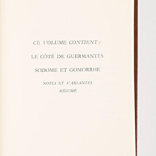 [LA PLEIADE]  PROUST Marcel A la recherche du temps perdu Paris Gallimard NRF, C…