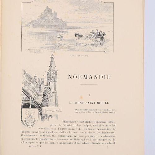 [REGIONALISME NORMANDIE]  ROBIDA A. La vieille France, Normandie Paris, A la lib…