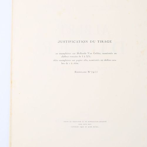 COLOMBIER Pierre du Albert Durer Paris Albin Michel 1927 un volume in 4° couvert…