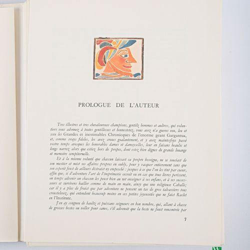 RABELAIS François Pantagruel Genève Édito service un volume in 4° en feuilles co…